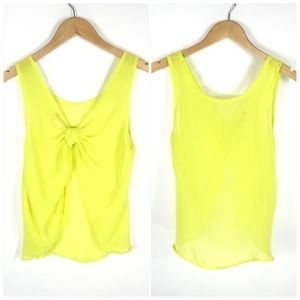 Body Central Sexy Open Back Neon Tank Top Size Sm